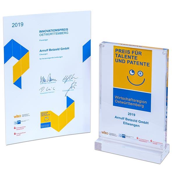 Auszeichnung Innovationspreis Ostwürttemberg