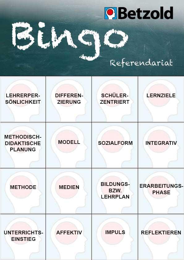 Lehrer-Bingo: Referendariat