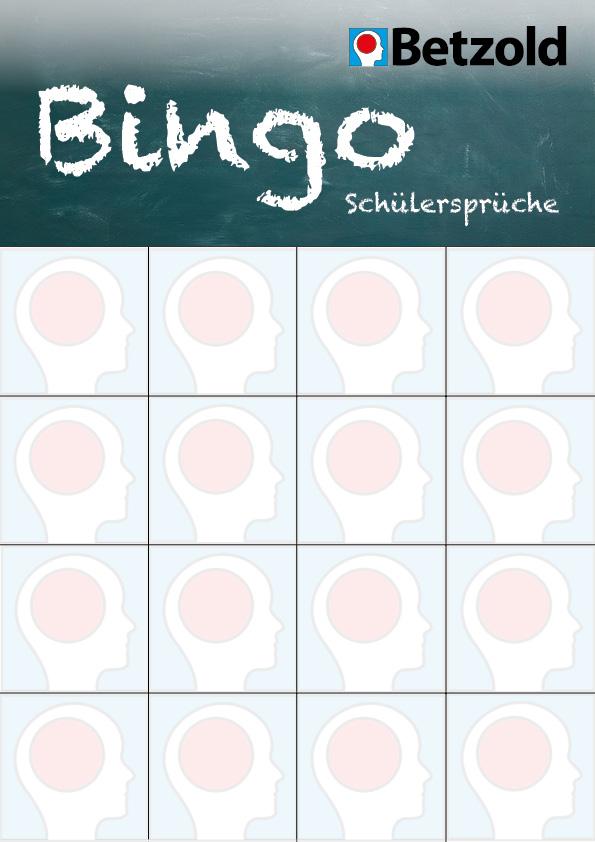 Blanko-Bingo: Schülersprüche