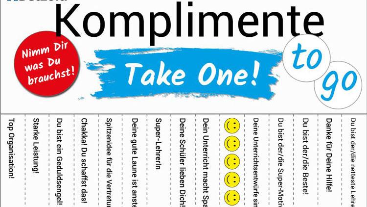 Mädchen komplimente an Komplimente, über