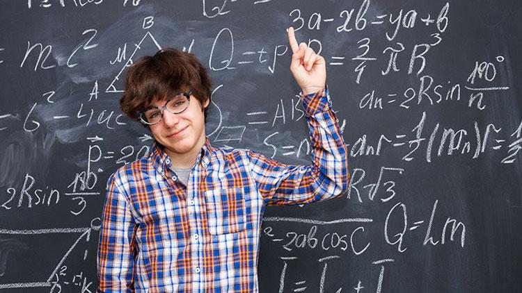 Mathe-Lehrer und seine beste Schülerin
