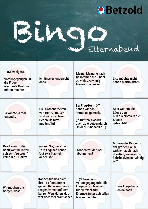 Elternabend Bingo